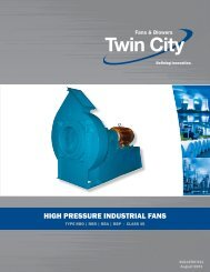 High Pressure Industrial Fans Class 45 - Twin City Fan & Blower