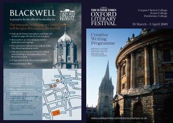 Creative Writing Programme - Blackwell's UK