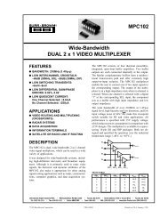 MPC102 Wide-Bandwidth DUAL 2 x 1 VIDEO MULTIPLEXER