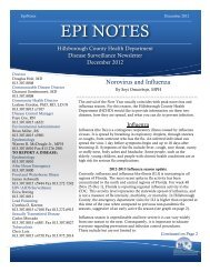 EpiNotes - December 2012 - Hillsborough County Health Department