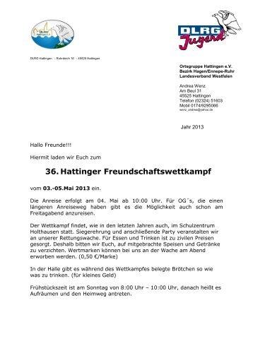 Ausschreibung - DLRG Ortsgruppe Hattingen /Blankenstein