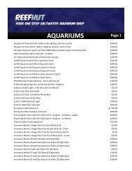 AQUARIUMS Page 1 - The Reef Hut
