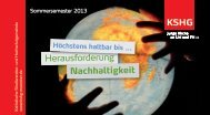 Herausforderung Nachhaltigkeit - KSHG Münster