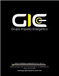 GRUPO IMPERIO ENERGÉTICO S.A. DE C.V.