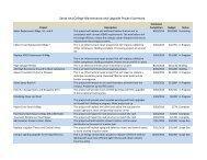 SAC Maintenance and Upgrade Project Summary 5-20-13