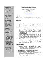 Syed Shomaail Mansoor Jafri - KFUPM - King Fahd University of ...