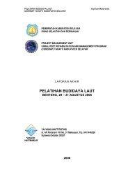 PELATIHAN BUDIDAYA LAUT - coremap