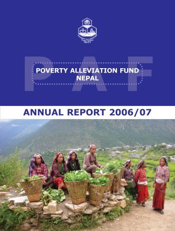 Annual Report 2006/2007 - Poverty Alleviation Fund, Nepal