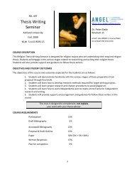 Thesis Writing Seminar - Ashland University