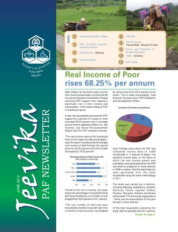 Newsletter(June) - Poverty Alleviation Fund, Nepal