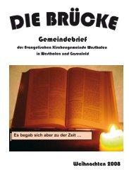 EEsbegab Weihnachten 2008 - Evangelische Kirchengemeinde ...
