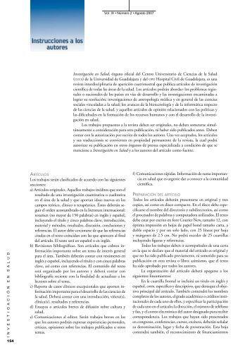 Investigación en Salud, órgano oficial del Centro ... - Imbiomed