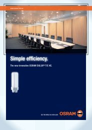 DULUX T/E HE (High Efficiency) Brochure - Osram