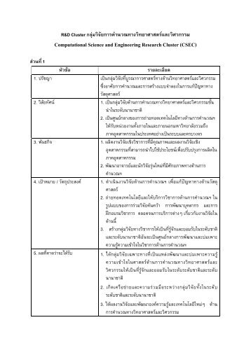 Computational Science and Engineering Research Cluster ... - kmutt
