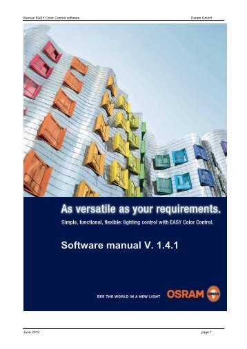 EASY Color Control: Software Manual - Osram