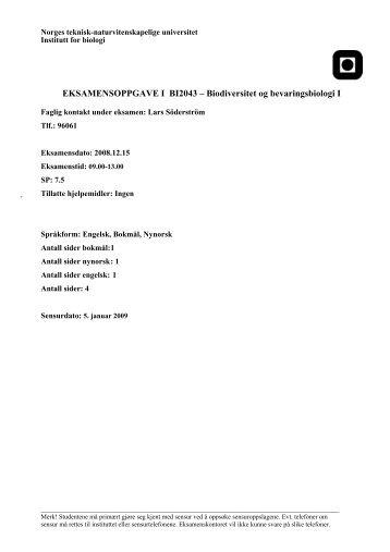 BI2043 .pdf - Institutt for biologi
