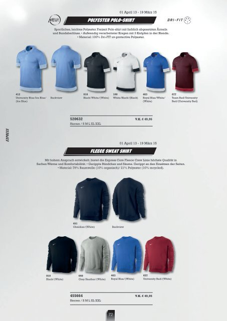 FOOTBALL 2013-2014 - Weco Teamsport