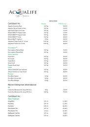 Listado de precios CaribSea, Coral Vue.. - Acqualife.es