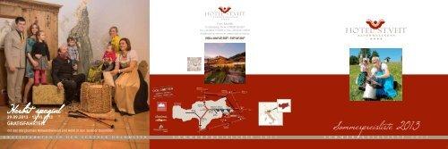 Sommerpreisliste 2013 - Hotel St.Veit