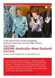 2010 ASEAN-Australia-New Zealand Dialogue Report - Asialink
