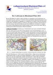 Jahresbericht 2003 - Luftsportverband Rheinland-Pfalz eV