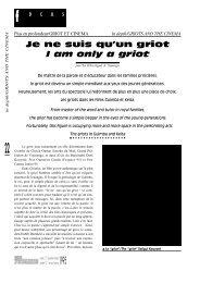 Griot et Cinéma / Griot and Cinema - Africultures