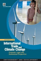 International trade and climate change: economic ... - World Bank