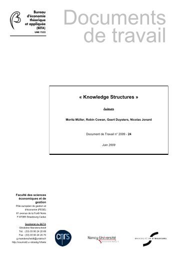 Madame, Monsieur, - Knowledge, Internationalization and ...