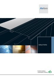 Siding Profiles - Aluform System GmbH & Co. KG