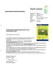 Ferienspaß 2011 Anschreiben Vereine & Verbände - Uelzen