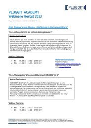 PLUGGIT ACADEMY Webinare Sommer 2013