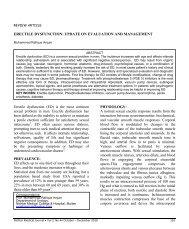 ERECTILE DYSFUNCTION - Nishtar Medical Journal