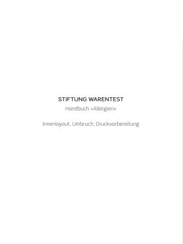 STIFTUNG WARENTEST - Absatz-DTP-Service