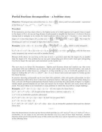 partial fractions worksheet partial fractions worksheet pdf de position grade 11 math. Black Bedroom Furniture Sets. Home Design Ideas