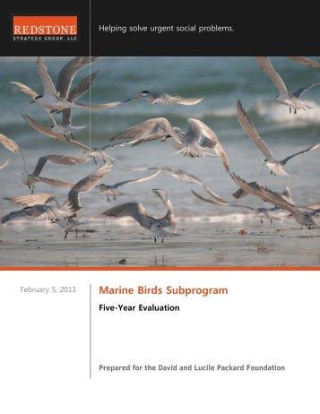 Marine Birds 5 Year Evaluation - Packard Foundation