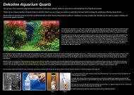 Dekoline Aquarium Quartz - Aquatic Nature