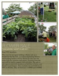 FLOWER SALE - Tuscarora Yacht Club