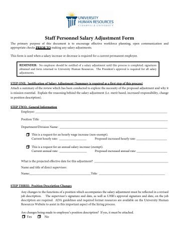 Staff Personnel Requisition Form  Cedarville University