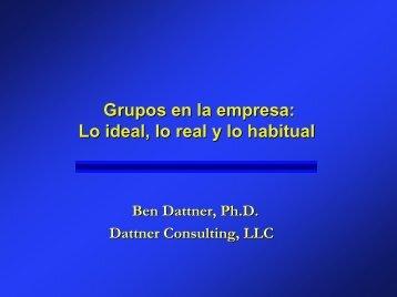 La Dinámica de los Grupos Exitosos - Dattner Consulting