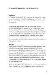 34. Zeitforum der Wissenschaft - 01.07.09 - Wasser für alle ...
