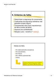 5. Critérios de falha