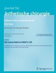 ästhetische chirurgie Elektronischer Sonderdruck ... - OceanClinic.net