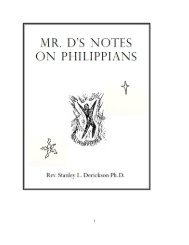 mr. d's notes on philippians - The Dericksons