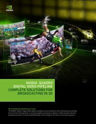 nvidia® Quadro® digital video pipeline Complete Solutions For ...