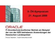 IT-Grundschutz-konformer Betrieb am Beispiel der von der HZD ...
