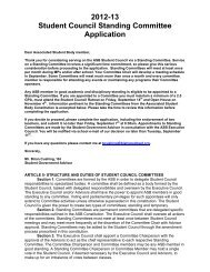 2012-13 Student Council Standing Committee Application