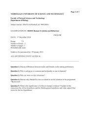of 1 NORWEGIAN UNIVERSITY OF SCIENCE ... - Institutt for biologi