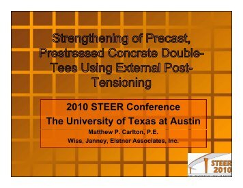 Strengthening of precast, prestressed concrete double tees using ...