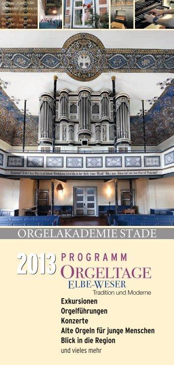 Programmheft 2013 - Orgelakademie Stade