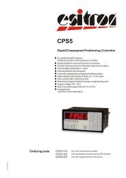 Ordering code Rapid/Creepspeed-Positioning Controller - esitron